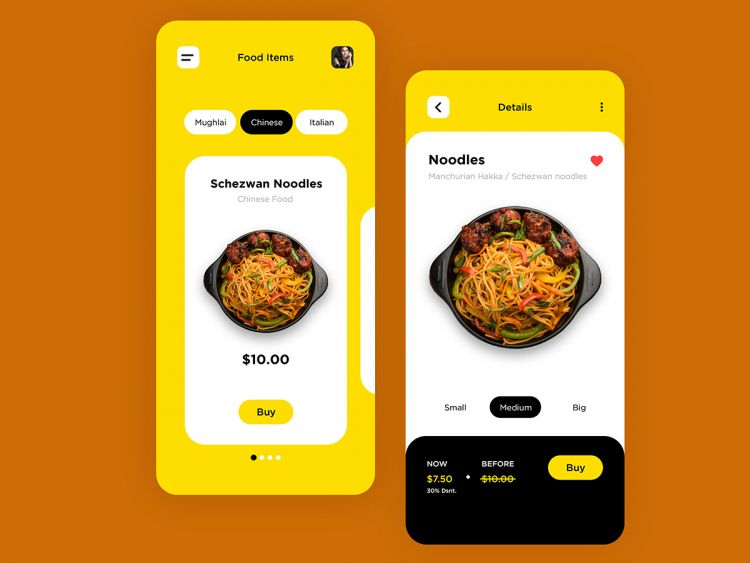 Food App UX Design Freebie (XD & FIGMA)