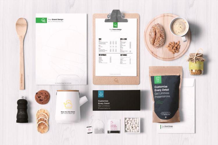Food Branding and Packaging Free Mockup