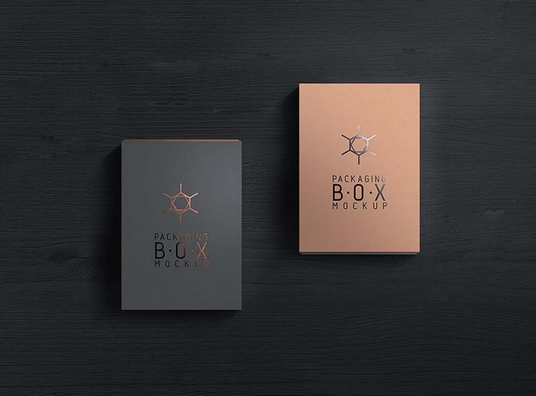 Free 3 Packaging Product Box Mockup (PSD)