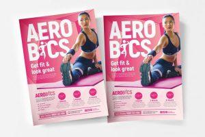 Free Aerobic Flyer PSD Templates