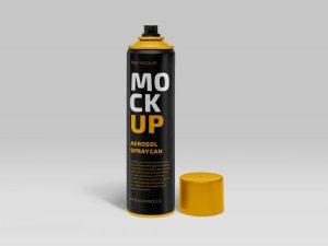 Free Aerosol Spray Can Mockup (PSD)