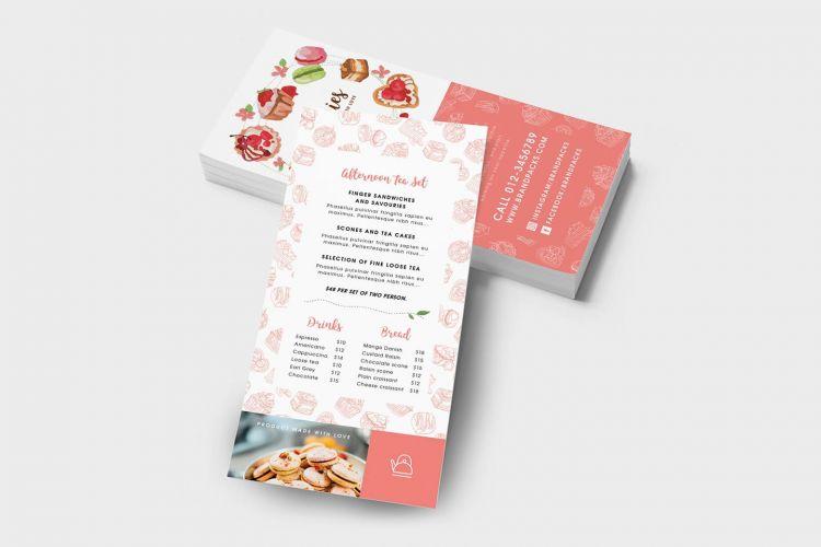 Free Bakery DL Flyer PSD Template