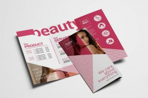 Free Beauty Spa TriFold Brochure Template (PSD)