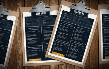Free Beer Menu PSD Template