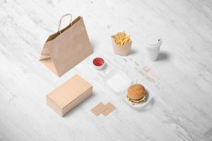 Free Burger Store Branding Mockup (PSD)