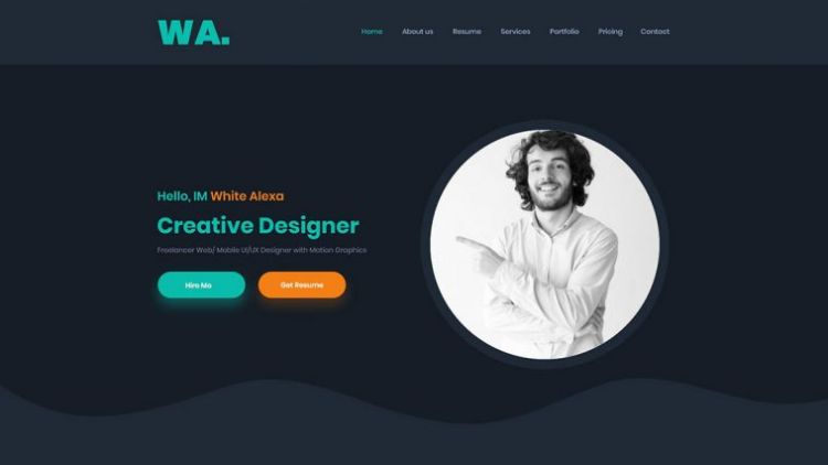 Free CV/Resume Web Template (XD)