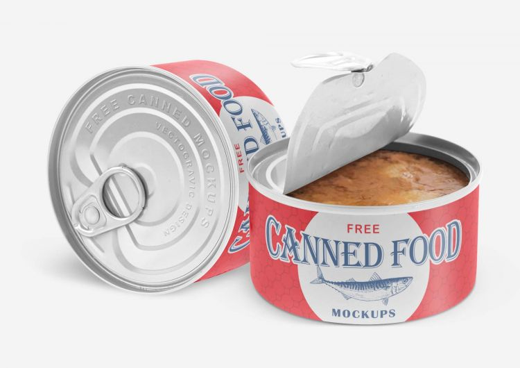 Free Canned Food Mockup (PSD)
