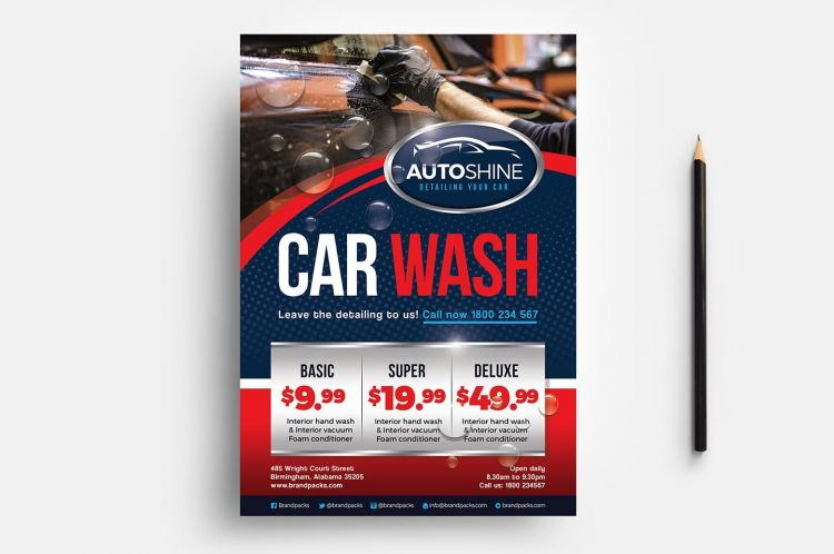 Free Car Wash PSD Flyer Template