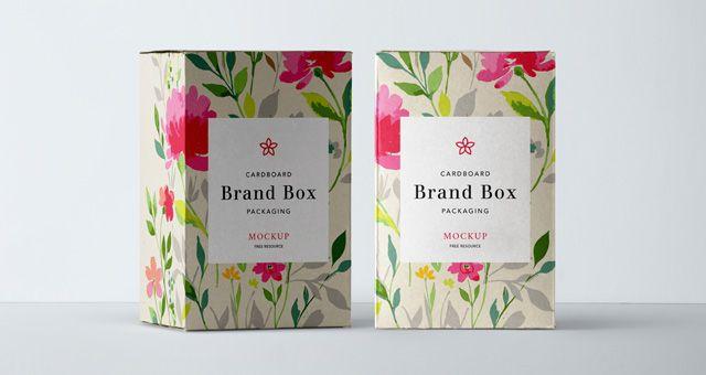 Free Cardboard Packaging Mockup (PSD)