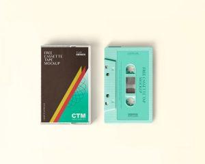 Free Cassette Tape Mockup (PSD)