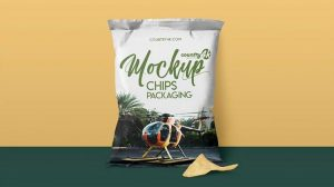 Free Chips Package Mockup (PSD)
