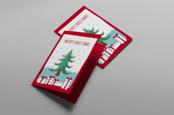 Free Christmas Card PSD Templates