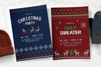 Free Christmas Event PSD Flyer Templates