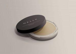 Free Clear Glass Cosmetic Jar Mockup (PSD)