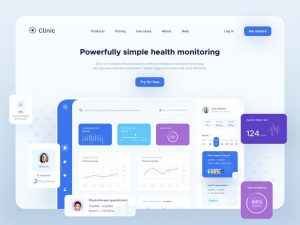 Free Clinic UI Elements (Sketch)
