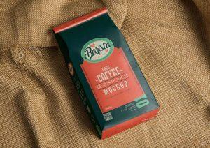 Free Coffee Bag Package Mockup (PSD)
