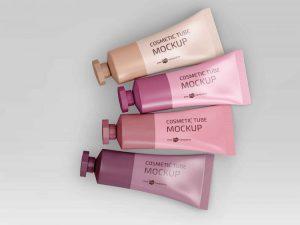 Free Cosmetic Tubes Mockup (PSD)
