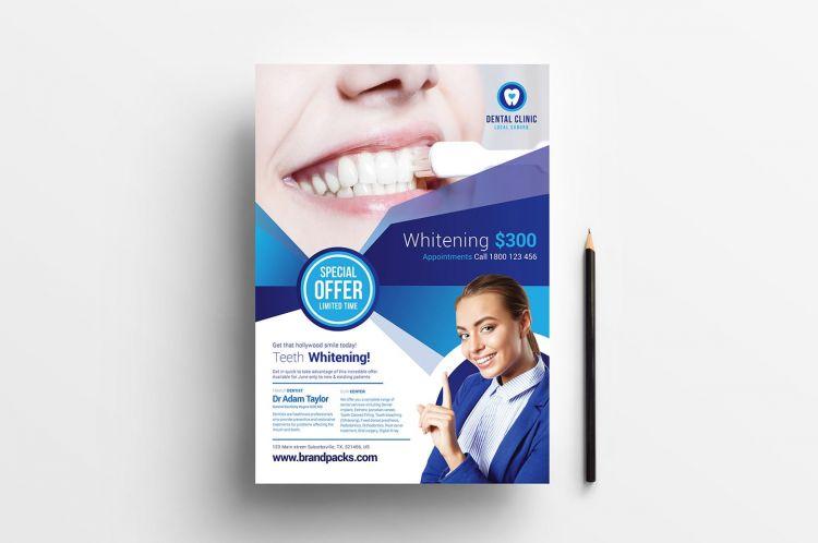 Free Dental Clinic PSD Flyer Template