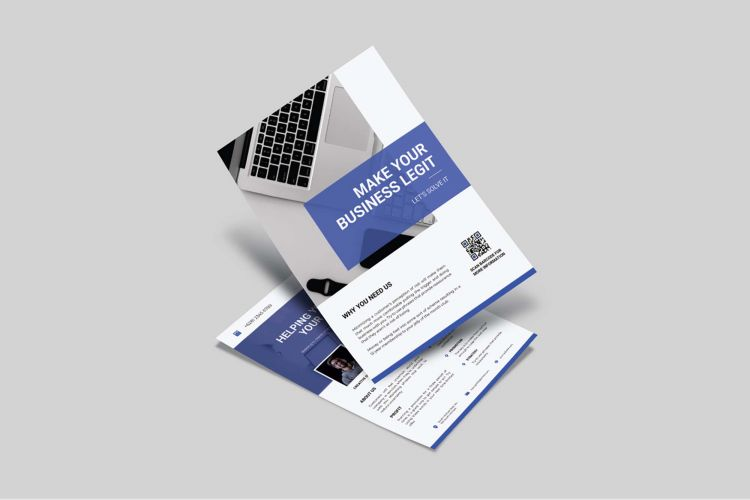 Free Double Side Business Flyer Template