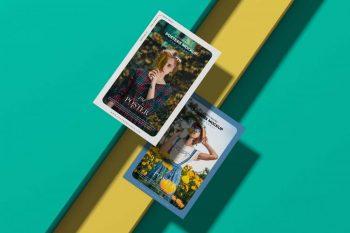 Free Elegant Brand Posters & Flyer Mockup (PSD)
