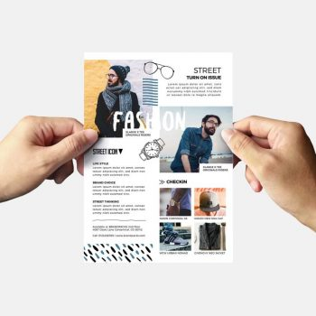 Free Fashion PSD Flyer Template