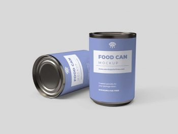 Free Food Can Mockup (PSD)