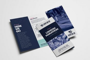 Free Fundraiser TriFold Brochure PSD Template
