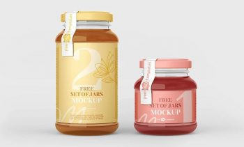 Free Glass Jar Mockup Set