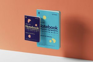Free Gravity Notebook Set Mockup (PSD)