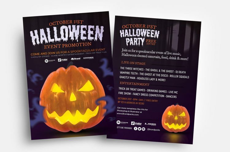 Free Halloween Flyer Template (PSD)