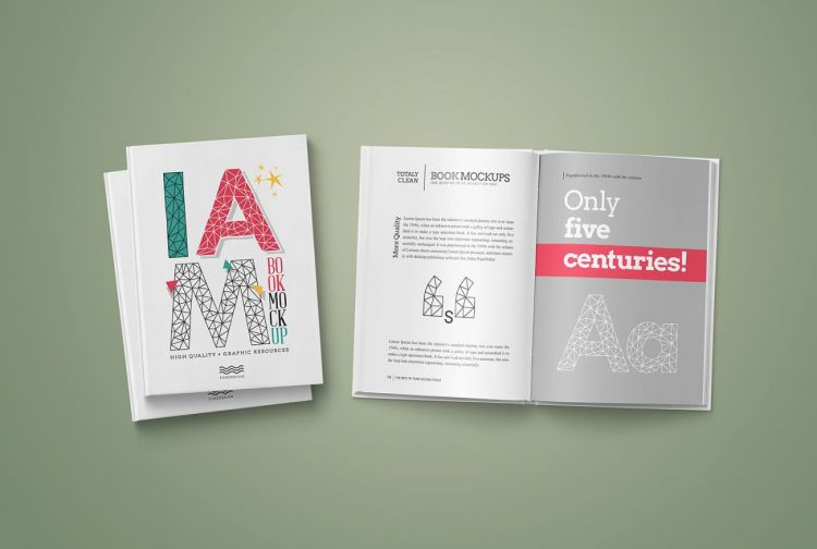 Free Hardcover Book Mockup (PSD)