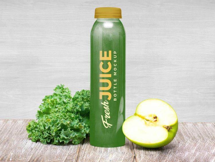 Free Juice Bottle Mockup (PSD)