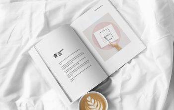 Free Magazine on Bed Mockup (PSD)