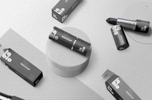 Free Matte Lipstick Packaging Mockup (PSD)