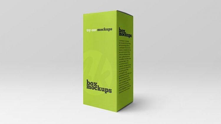 Free Matte Paper Box Mockup