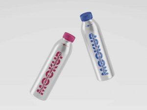 Free Metallic Bottles Mockup (PSD)