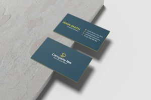 Free Minimalist Business Card Mockup