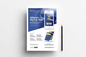 Free Mobile App Ad Flyer Template (PSD)