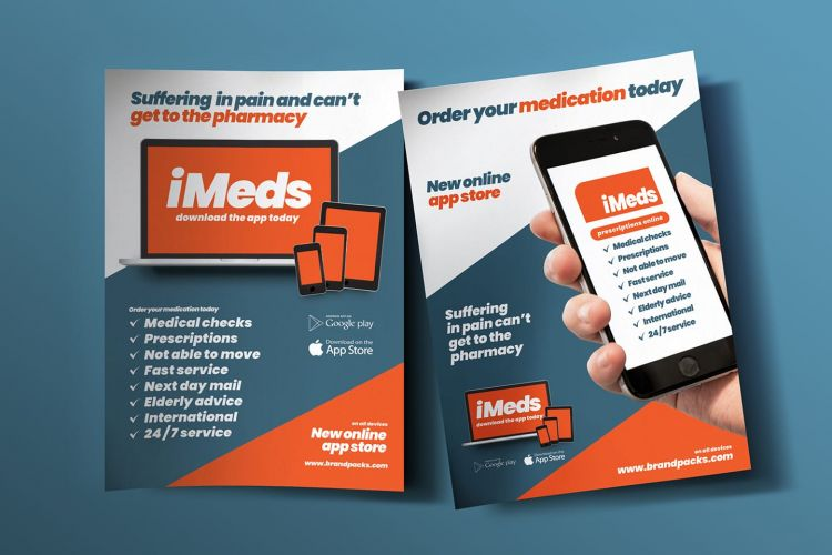 Free Mobile App Flyer Template (PSD)