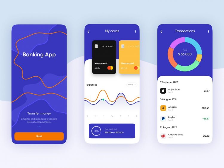 Free Mobile Banking App Template (Figma)