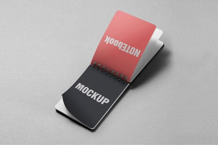 Free Notes Book Mockup (PSD)
