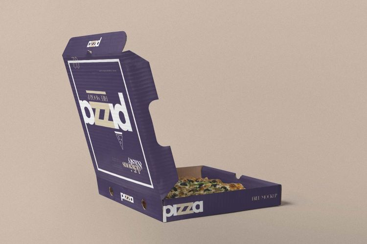 Free Opened Pizza Box Mockup (PSD)
