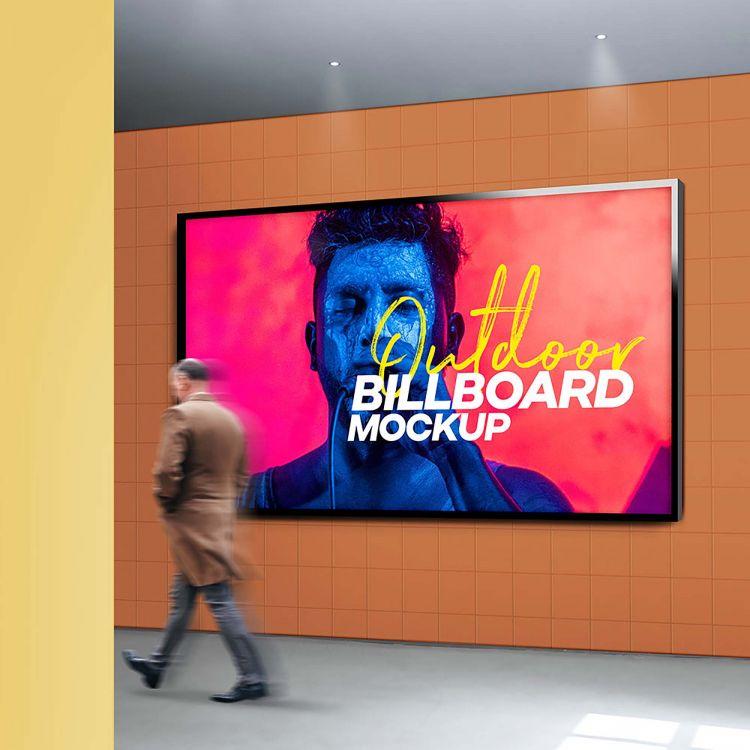 Free Outdoor Billboard Mockup (PSD)
