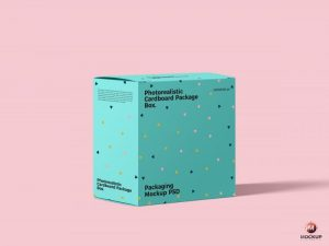 Free Packaging Box Presentation Mockup (PSD)