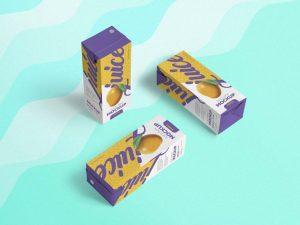 Free Paper Juice Packaging Mockup (PSD)