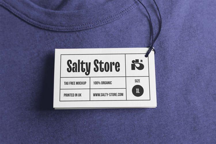 Free Photorealistic Clothing Tag Mockup (PSD)