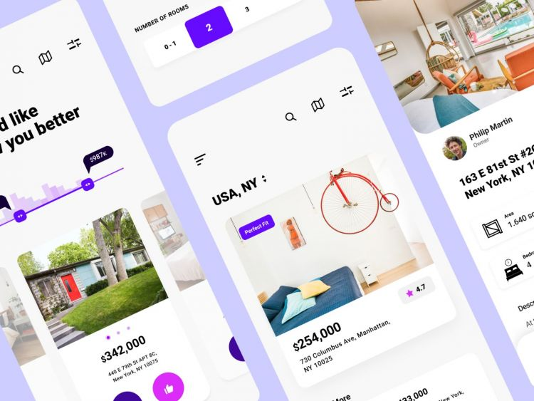 Free Real Estate App UI Design (Figma)