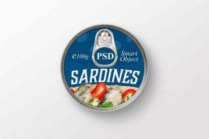 Free Round Tin Can Mockup (PSD)