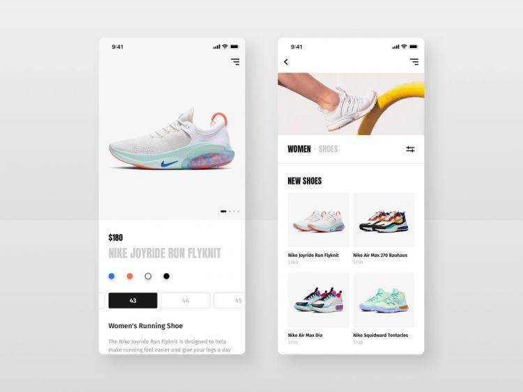 Free Shoes Shop E-commerce UI Kit (XD, Sketch)