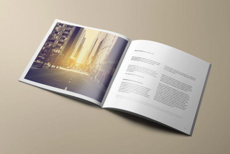 Free Square Brochure Mockup (PSD)